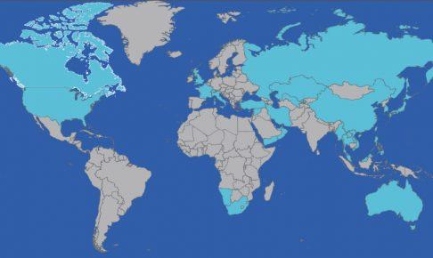 訪問国の世界地図