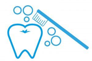 機内での歯磨き