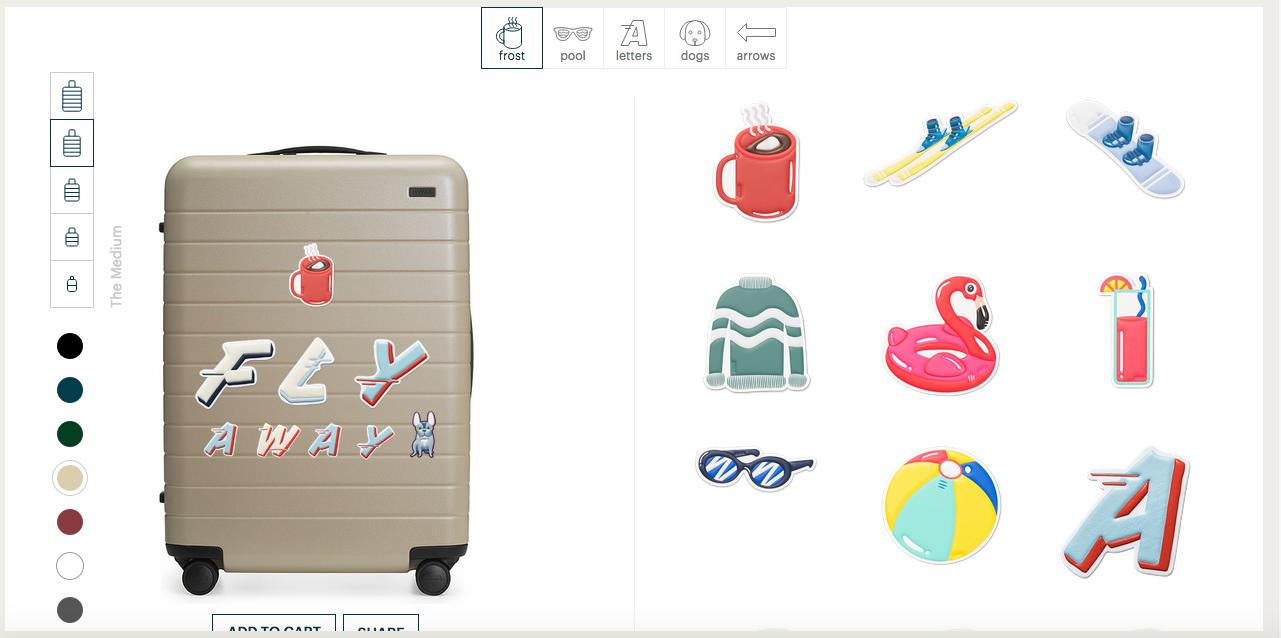 Awayのスーツケース